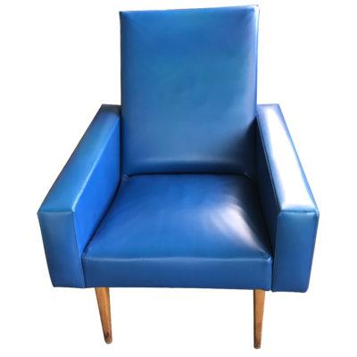 Paire de fauteuil bleu