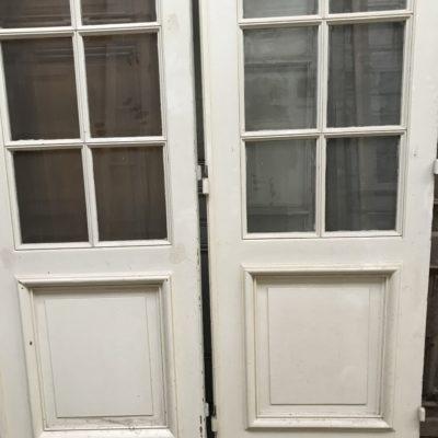 Quadriptyque de portes biseautés