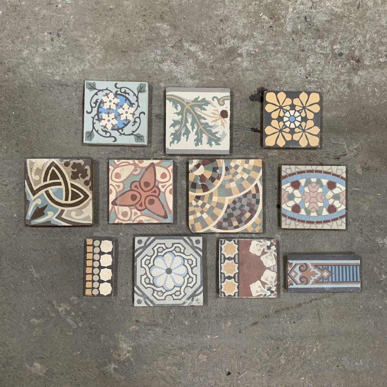 carreaux de ciment différents