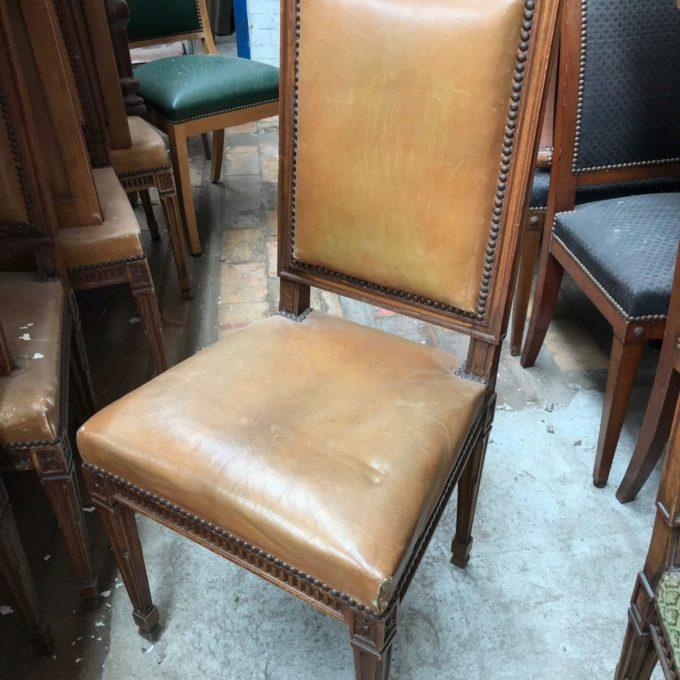 Chaise cuir banque de france