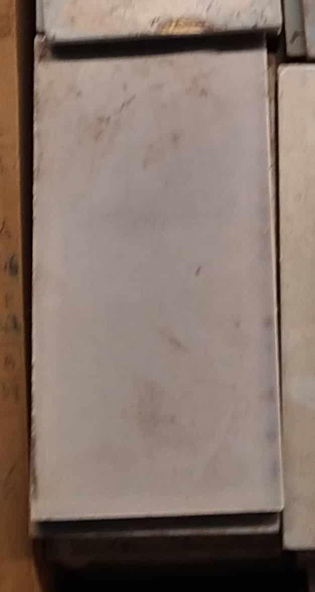 Carreaux de faïence rectangle blanc