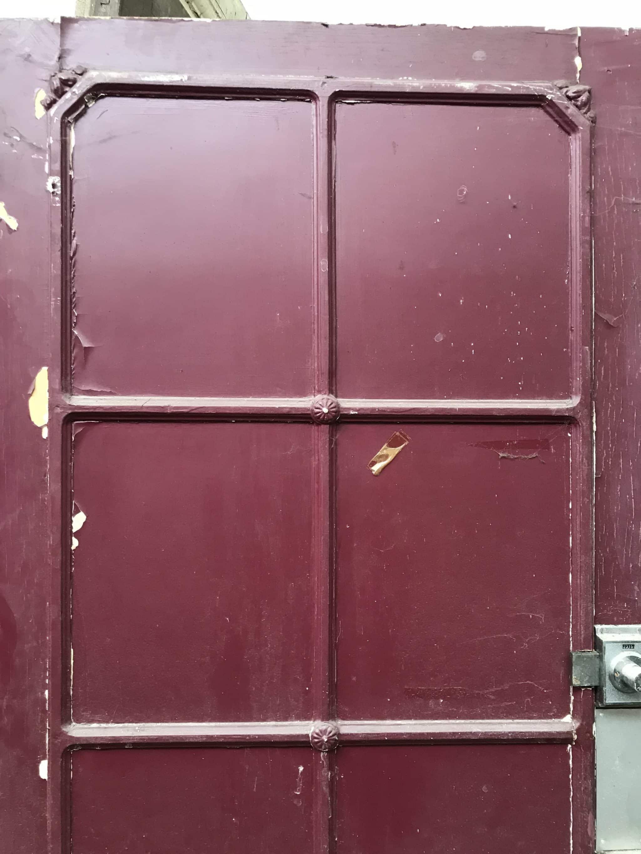 Porte D Entrée Rouge porte d'entree patinée rouge