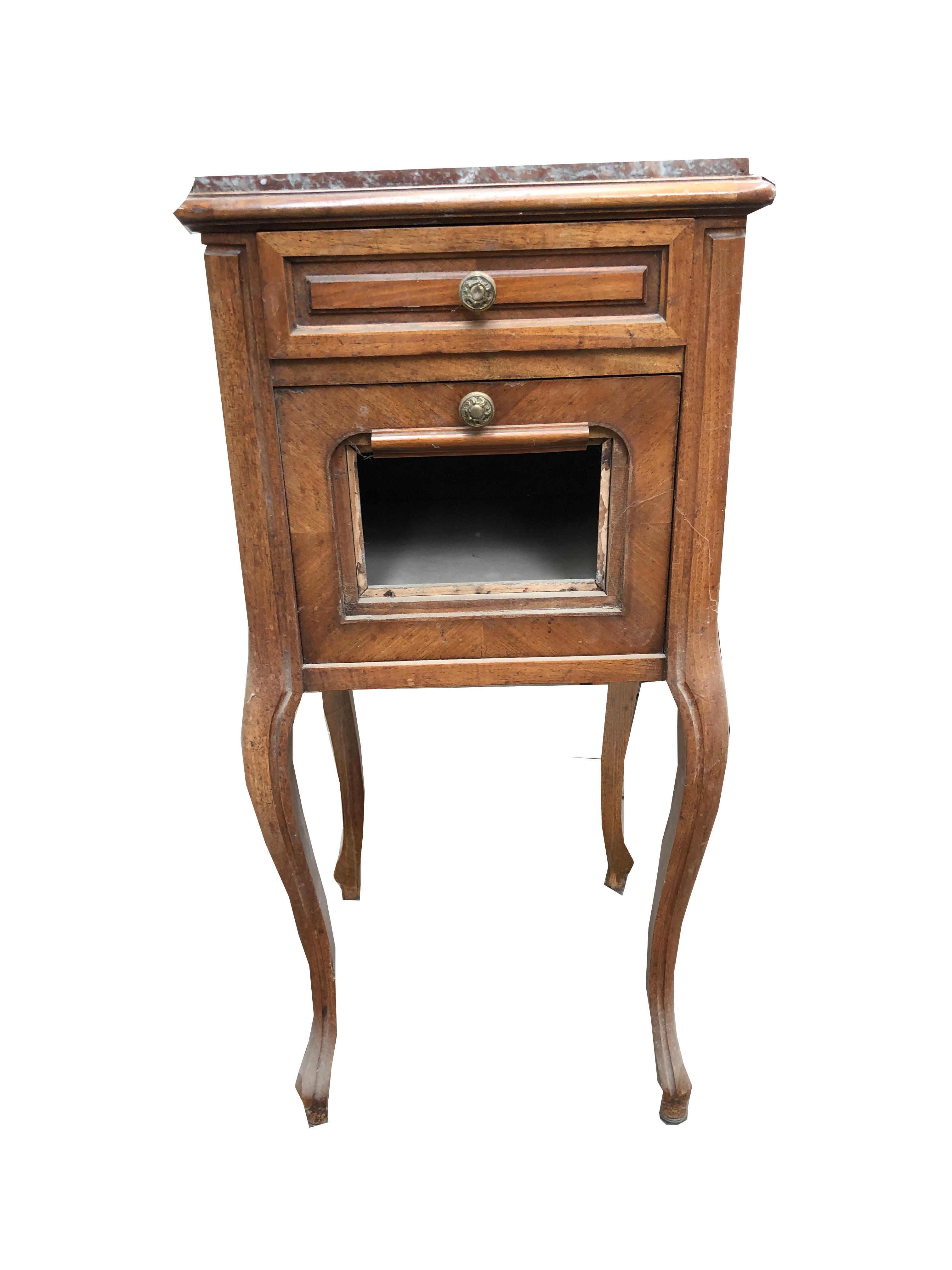 chevet de et bois marbre Table LqGUjSzVpM