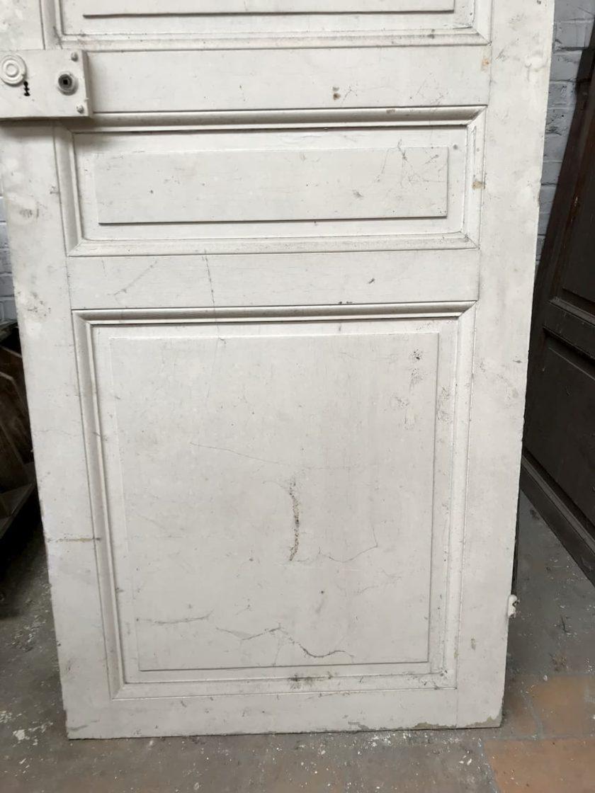Porte ancienne blanche bas