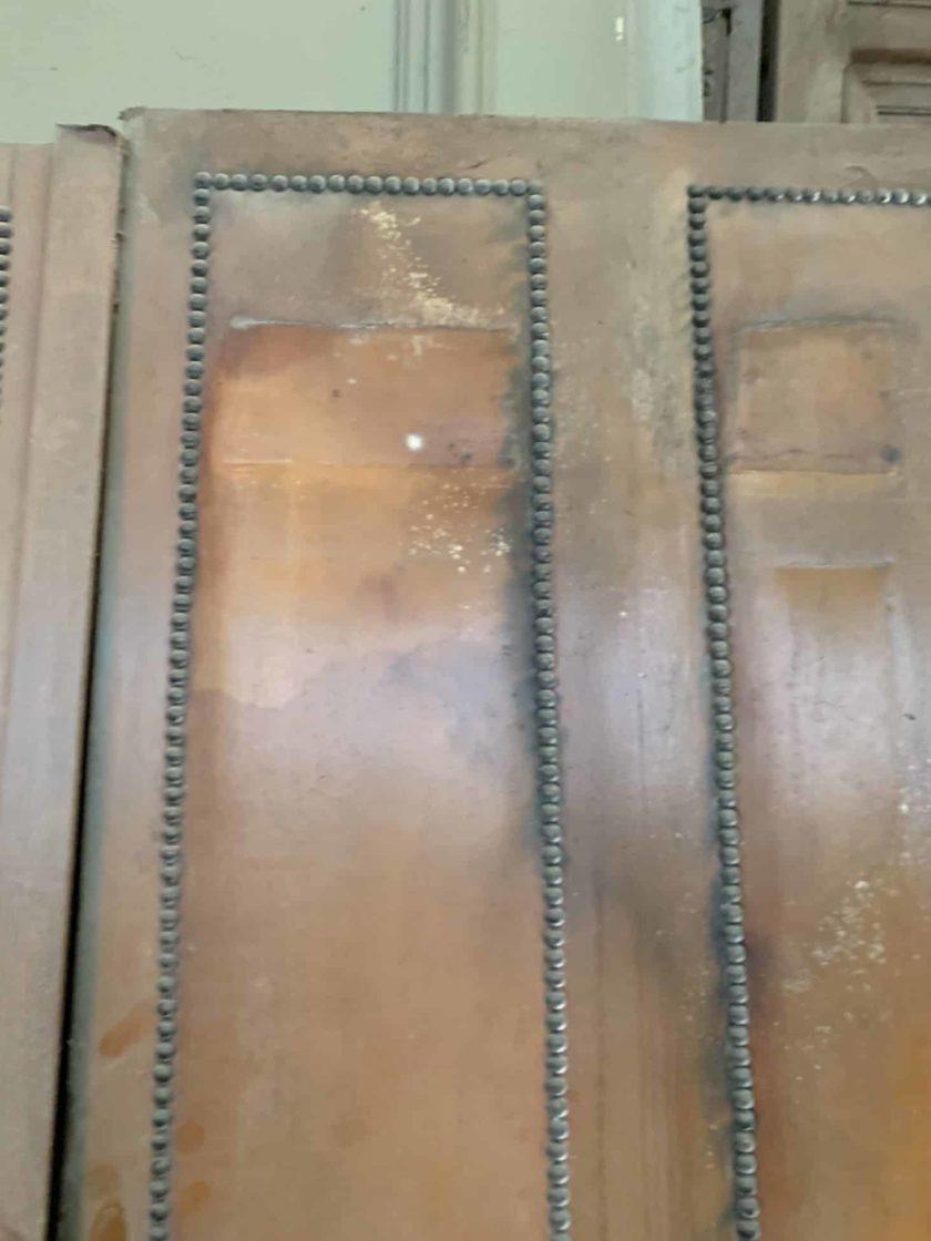 Porte de séparation cuir