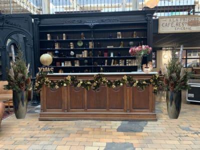 Bar showroom décoration de noel