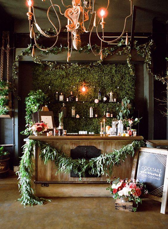 Bar décoré esprit de noël