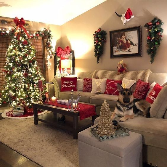 Decorate His House Nice For Christmas Materiaux Authentiques