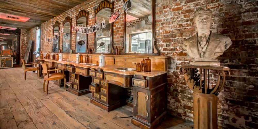 hairdresser cabinet showroom