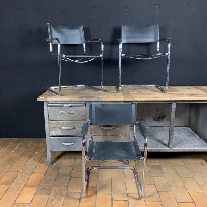 Chaise vintage en cuir