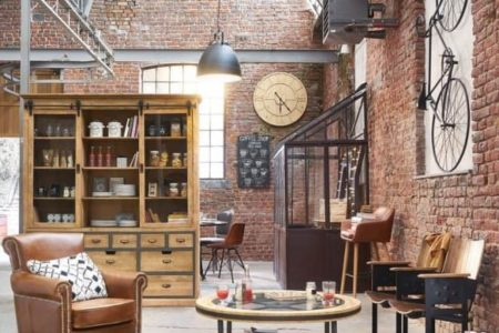 industrial and loft style living room
