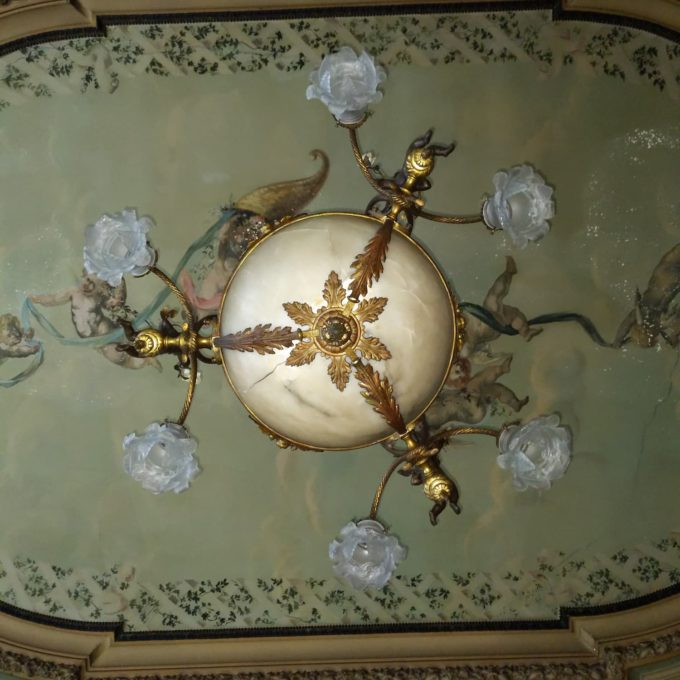 antique Napoleon III chandelier details
