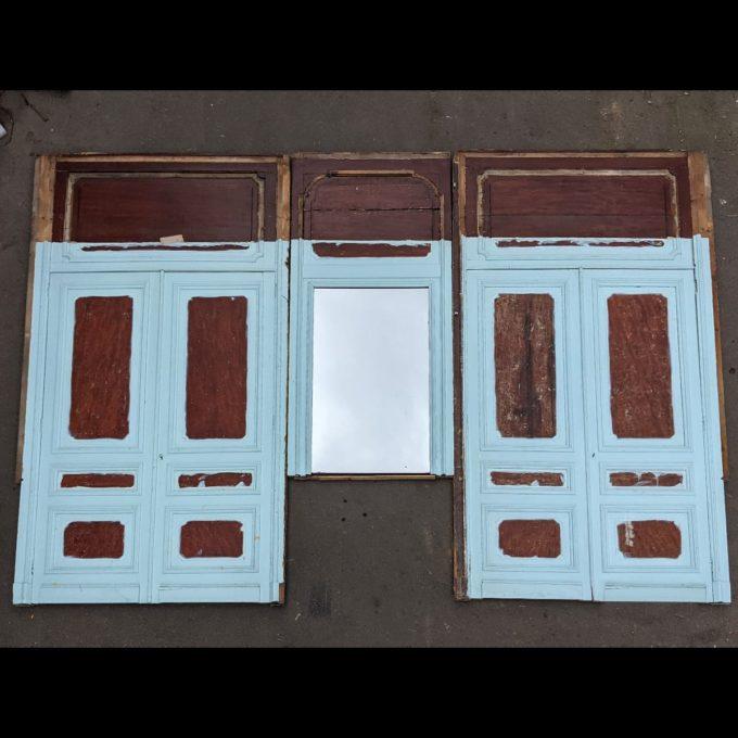 Blue closet facade