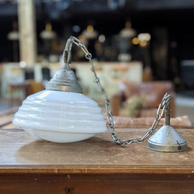 white opaline side lamp