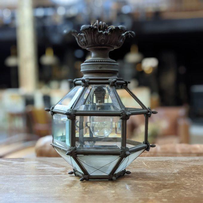 bronze entrance lantern